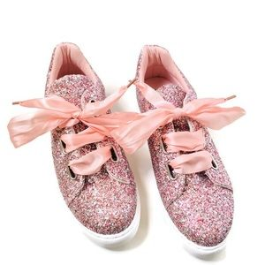Shoes - Rose Gold Glitter Sneakers NWOB